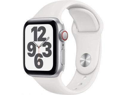 APPLE Watch SE GPS+Cellular,40mm Silver Aluminium Case with White Sport Band