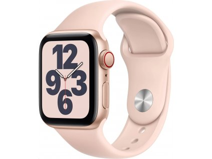 APPLE Watch SE GPS+Cellular,40mm Gold Aluminium Case with Pink Sand Sport Band