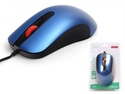 Omega optická myš OM0520BL, 1000 DPI, modrá