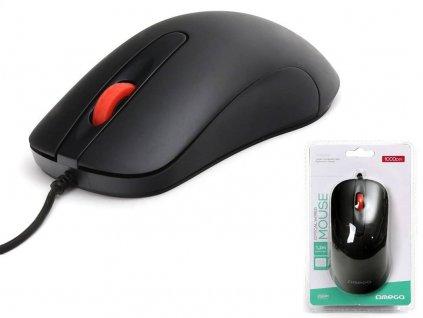 Omega optická myš OM0520B, 1000 DPI, černá