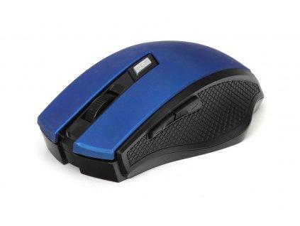 Omega myš bezdrátová OM08WBL, 1600 DPI, černo-modrá