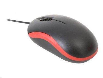 Omega optická myš OM07VR, 1000 DPI, červená