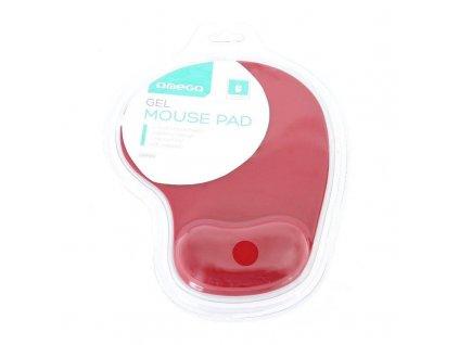 Omega OMPGR GELOVÁ podložka pod myš, červená
