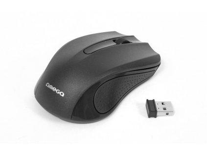 Omega myš bezdrátová OM0419B, 1000 DPI, černá