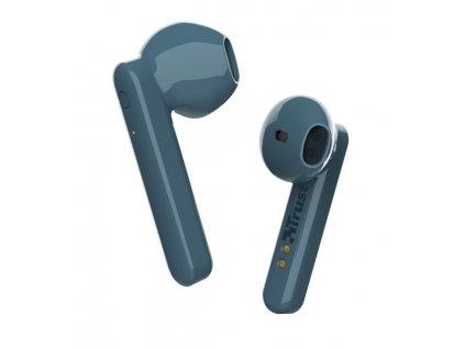 Trust Primo Touch Bluetooth Wireless Earphones, modrá