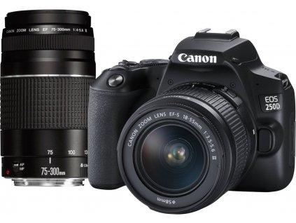 Canon EOS 250D Black + EF-S 18-55 DC + EF 75-300 DC