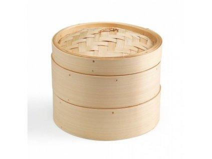 KEN HOM Excellence Bambusový pařník 20 cm, 2 patra