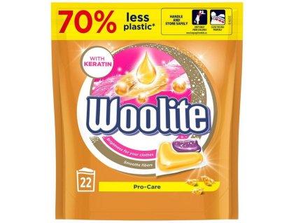 Woolite gelové kapsle na barevné prádlo s keratinem 22 ks