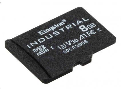 Kingston microSDHC 8GB Industrial bez adaptéru
