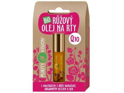 Purity Vision Bio Růžový olej na rty 10 ml