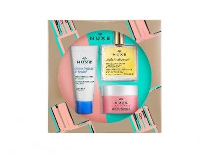 Nuxe Essential Face Care dárková sada (Creme Fraiche de Beauté 30 ml + Huile Prodigieuse 50 ml + Insta-Masque 50 ml)