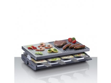 STEBA gril RC 58, raclette, kombi, 8 osob, 8 pánviček, nepřilnavý povrch