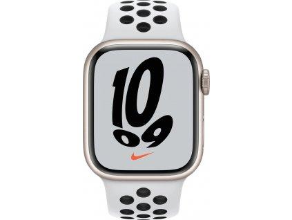APPLE Watch Nike Series 7, 41mm Star./Plat./Black Nike SportBand (mkn33hc/a)