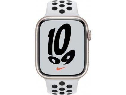 APPLE Watch Nike Series 7, 45mm Star./Plat./Black Nike SportBand (mkna3hc/a)
