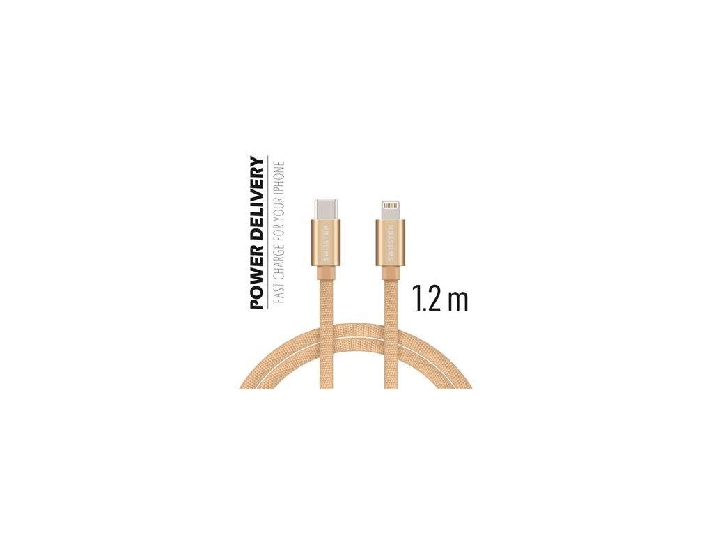 SWISSTEN Lightning/USB-C kabel 1.2m