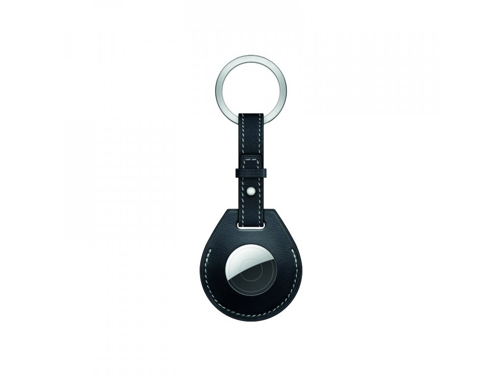 coteetci h series air tag locator keychain leather case black