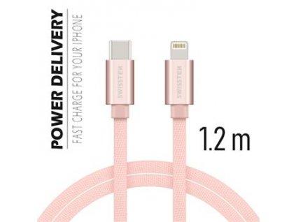 SWISSTEN Lightning/USB-C 1.2m Různé barvy