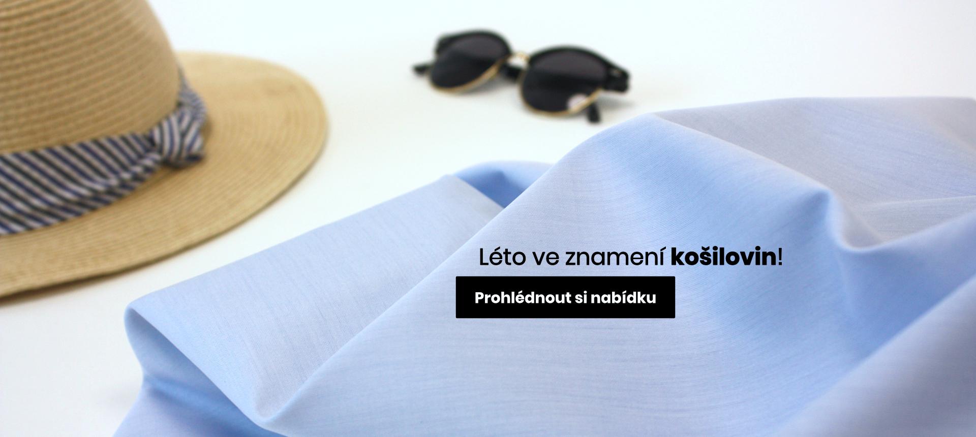 Oděvní látky bavlněné košiloviny