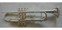 M.Jiracek model 134 S - B trumpeta perinetová, stříbrná, B kus!