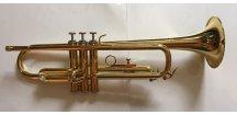 M.Jiracek model 133L, B trumpeta perinetová, lakovaná,  šité pouzdro.