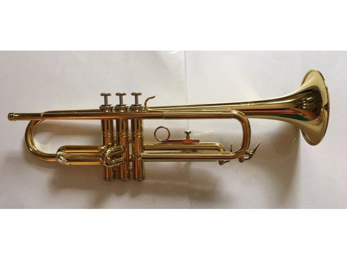 M.Jiracek model 133L, B trumpeta perinetová, lakovaná,  pevné pouzdro!