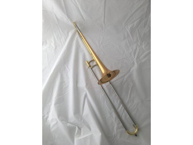 M.Jiracek model 153G, trombon tahový, zlatomosazný