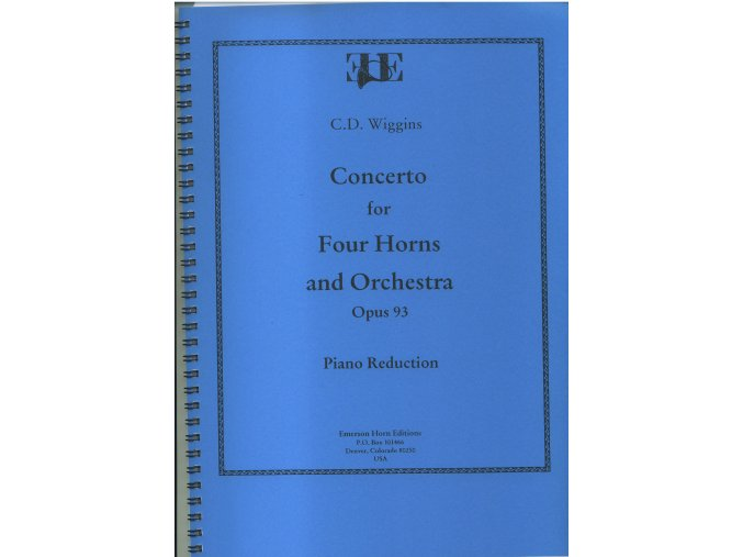 Concerto for Four Horns and Orchestra - Opus 93 - C.D.Wiggins - Piano reduction