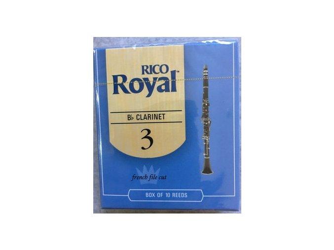 RICO ROYAL tvrdost 3 plátek pro Bb Klarinet - RCB 1030