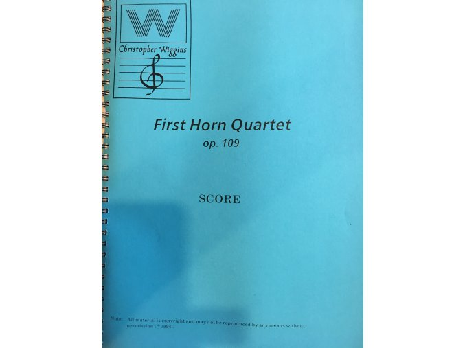 First horn Quartet  op.109 - score+party - C.D.Wiggins