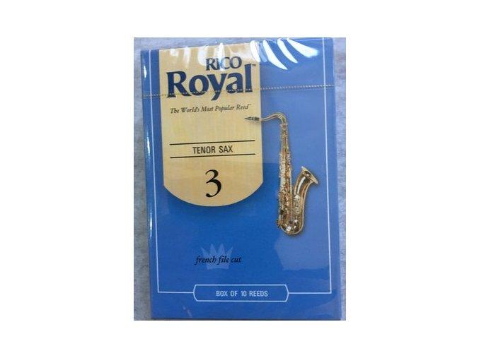 Rico Royal tvrdost 3  plátky pro tenorový  saxofon - RKB1030