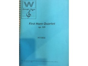 First horn Quartet  op.109 - score+party - C.D.Wiggins
