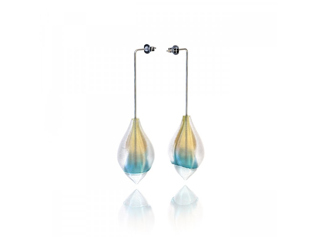 plankton nausnice color honey & blue