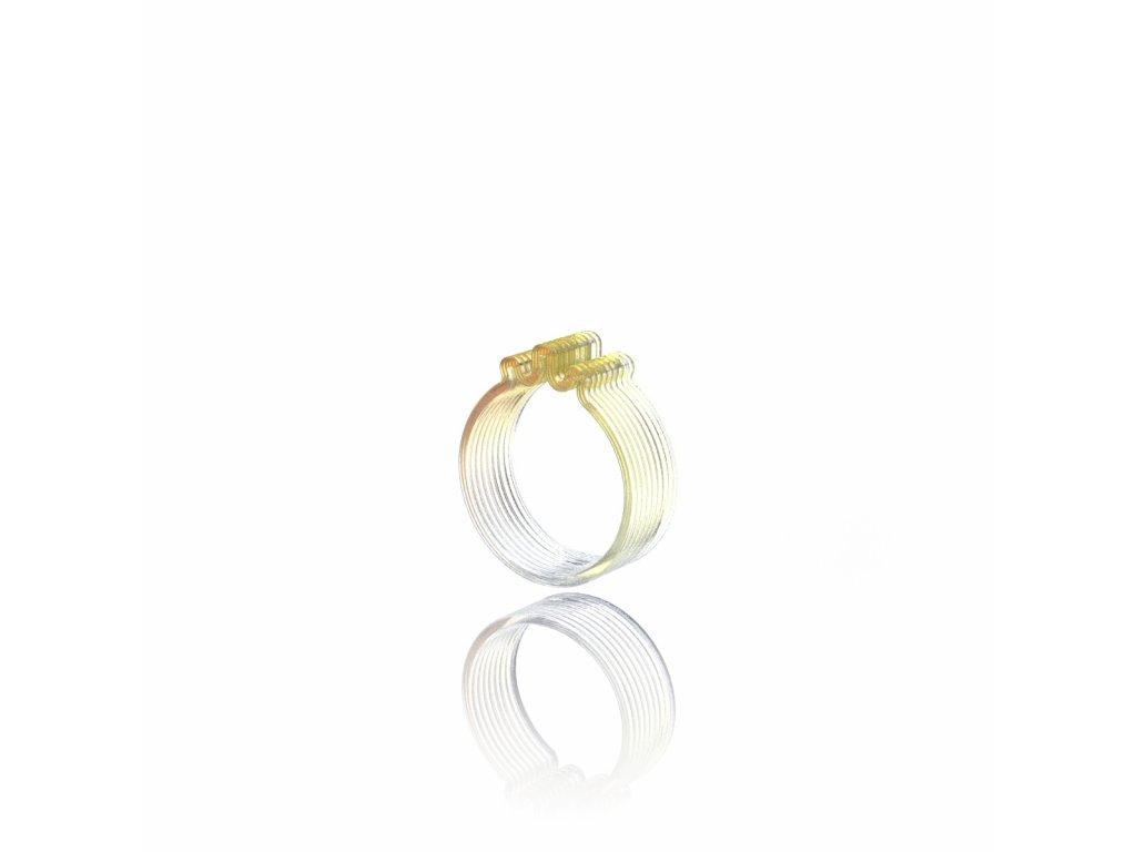 prsten 3 vlnky zluta light