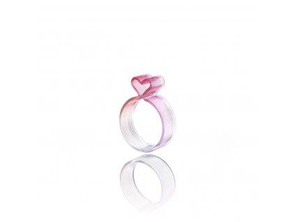prsten srdce cervena light