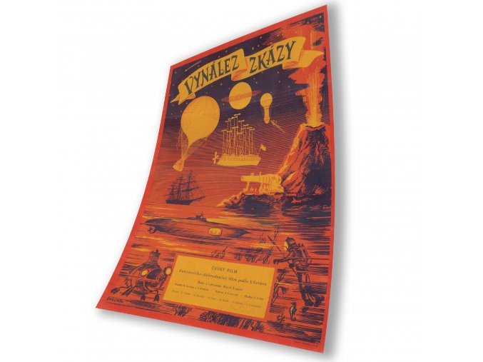 Film Poster Invention for Destruction (aka The Fabulous World of Jules Verne)