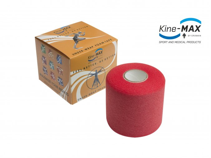 Kine MAX Under Wrap Foam Tape Podtejpovací páska 7cm x 27m Červená