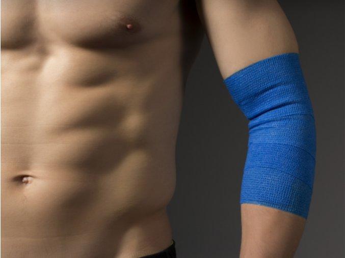 Kine-MAX Cohesive Elastic Bandage - Elastické samofixační obinadlo (kohezivní) 10cm x 4,5m - červené