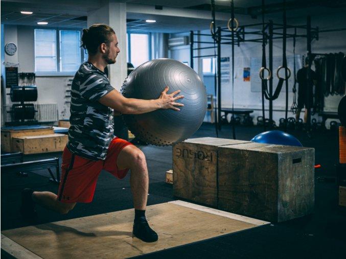 Gymball blue set logo