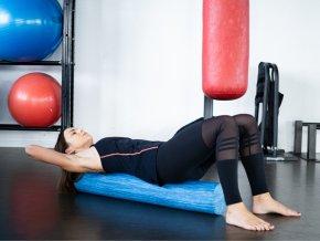 KineMAX Professional Massage Foam Roller 90cm masážní válec Eva Foam šedý
