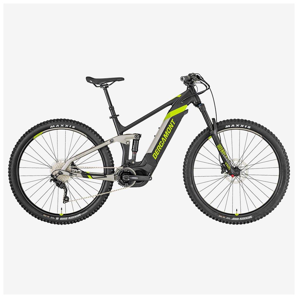 Celoodpružené elektrokolo Bergamont E-Trailster Sport 29 - šedé