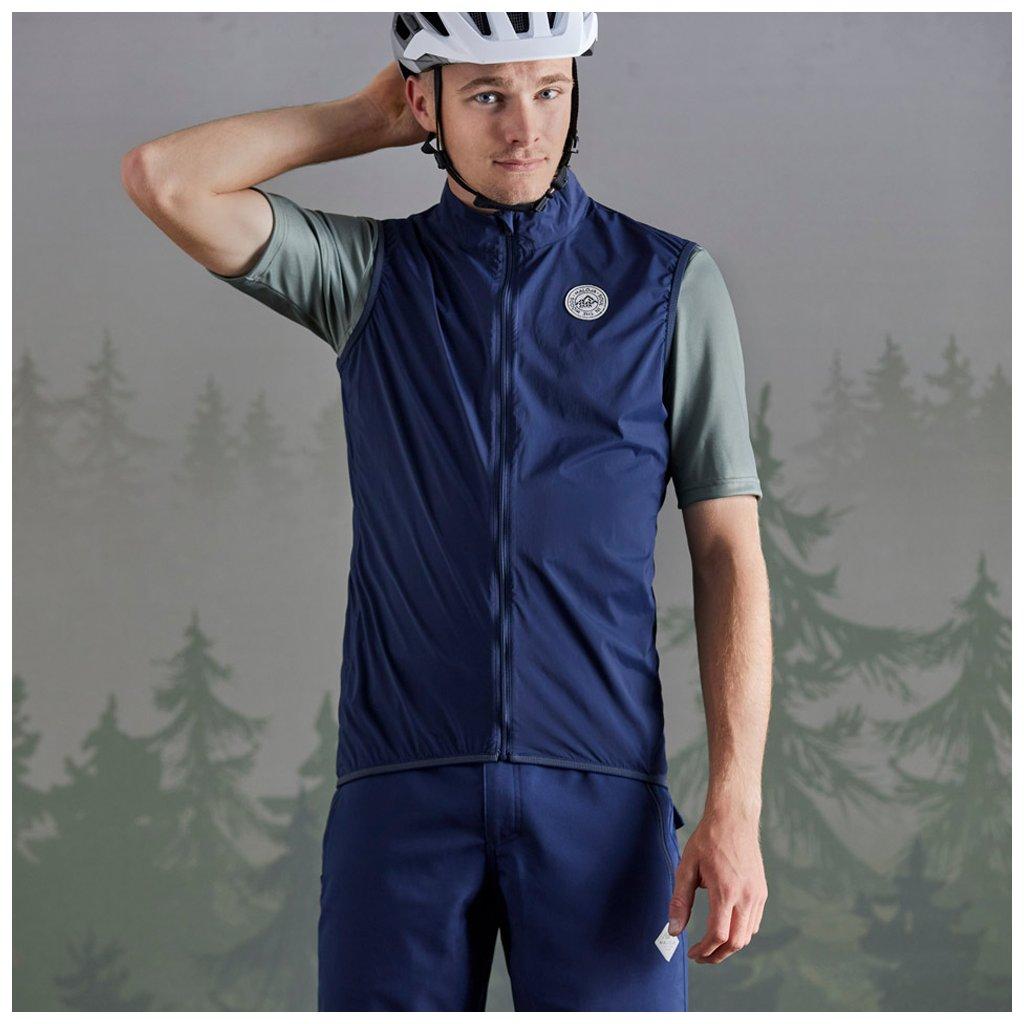 Pánská vesta MaxM - modrá