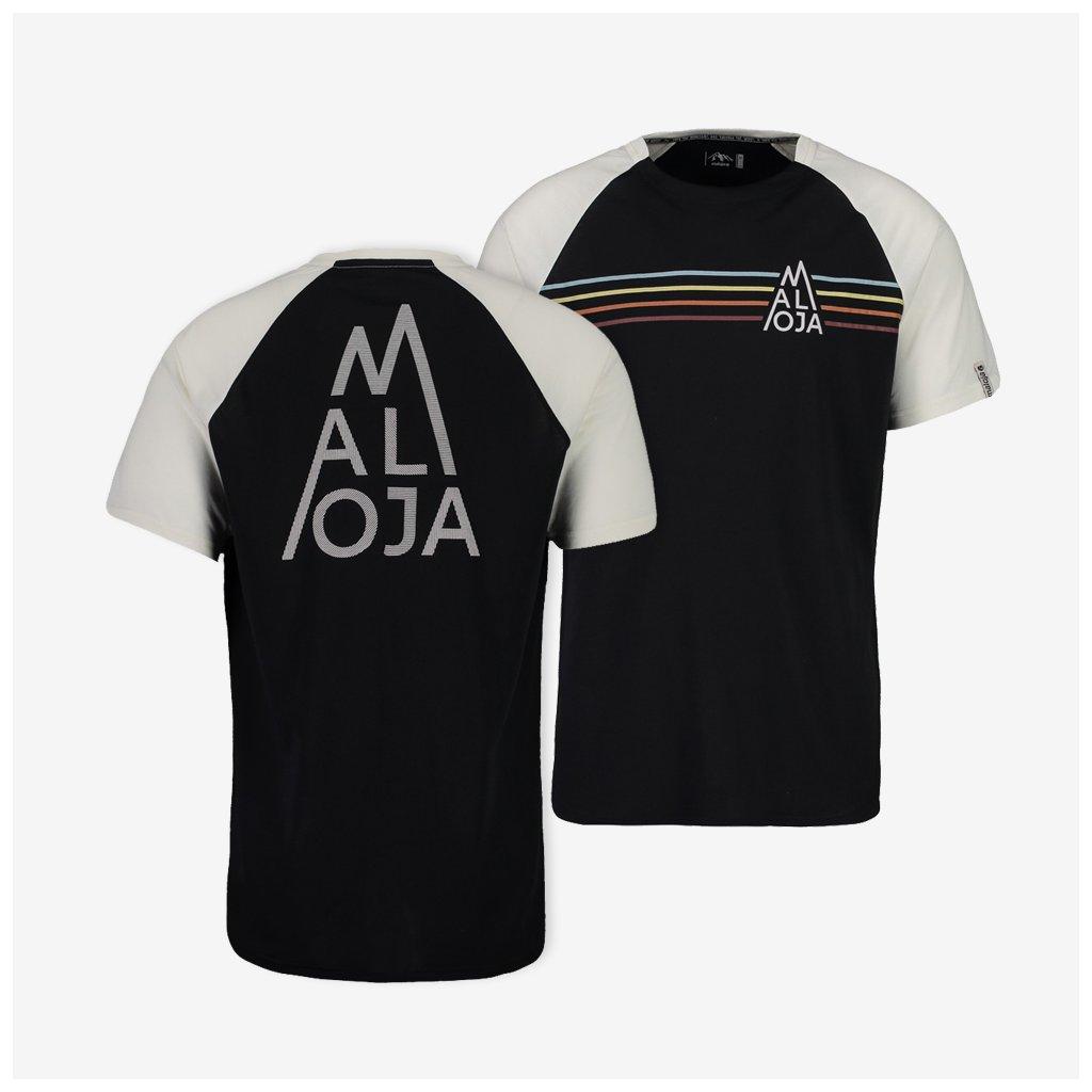Pánské tričko Maloja AlbanasM - černé