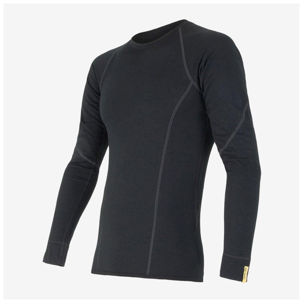 Pánské tričko Merino Active l/sl - černé
