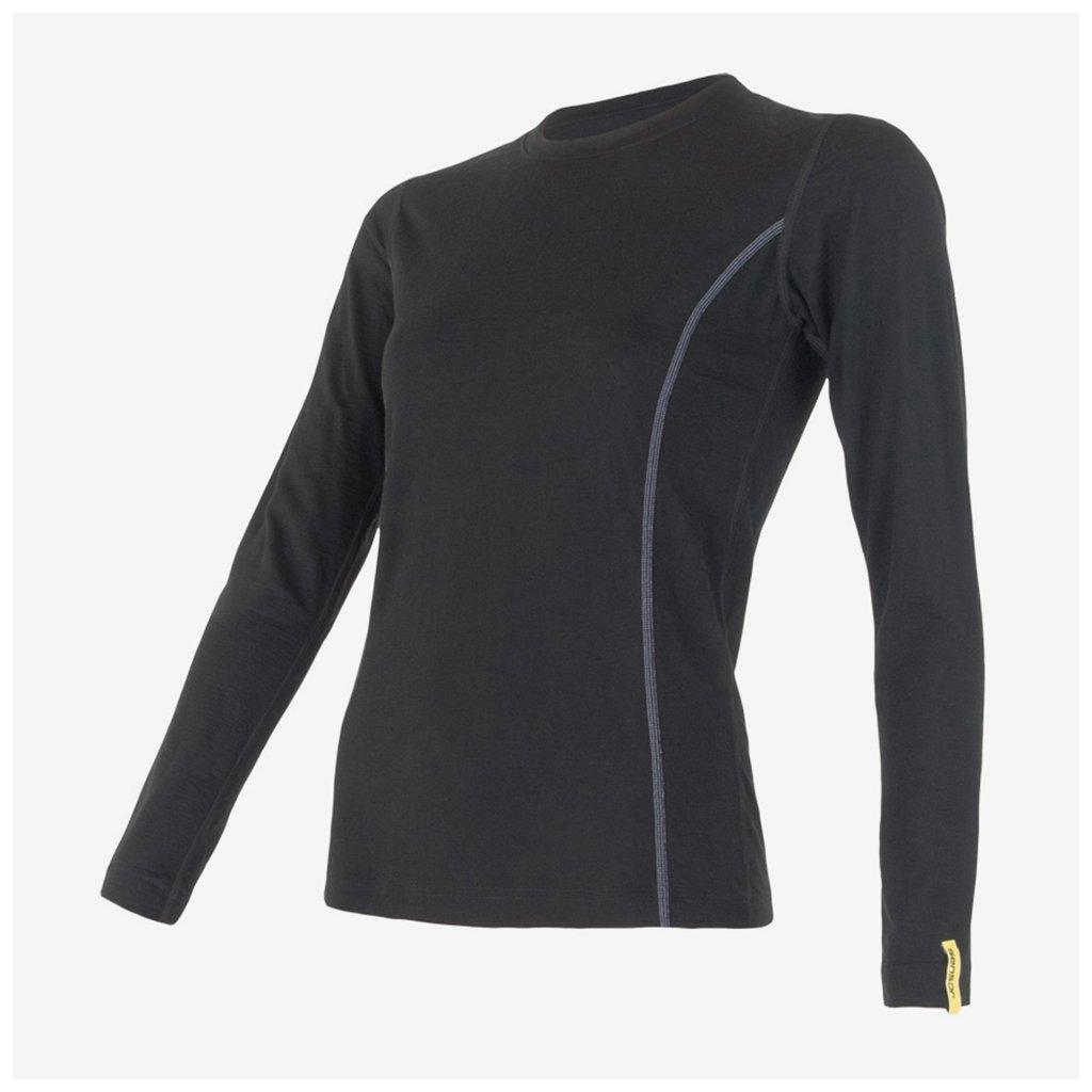 Dámské tričko Merino Active l/sl - černé