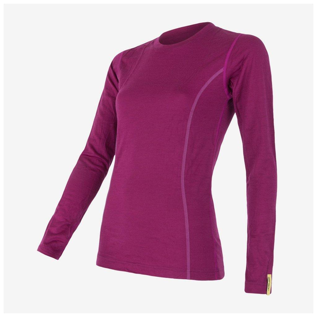 Dámské tričko Merino Active l/sl - fialové