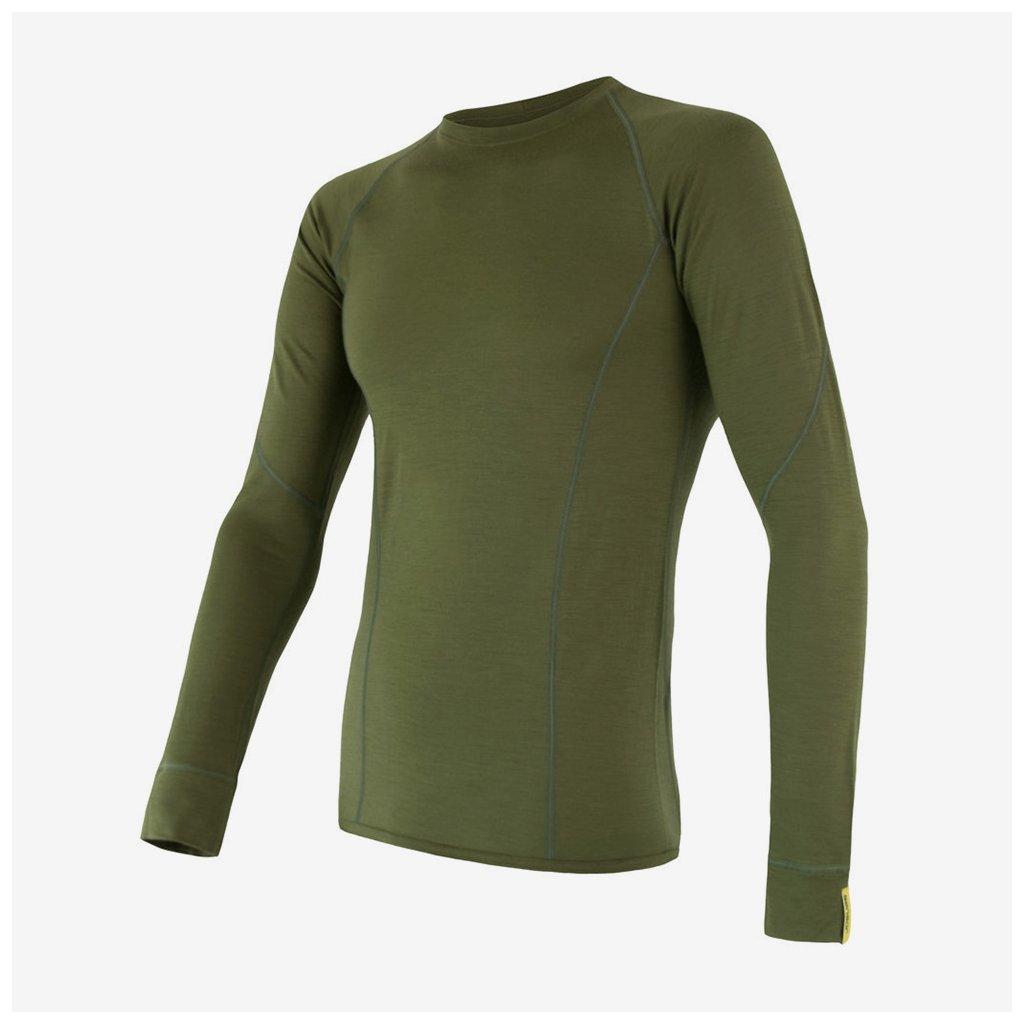 Pánské tričko Merino Active l/sl - zelené