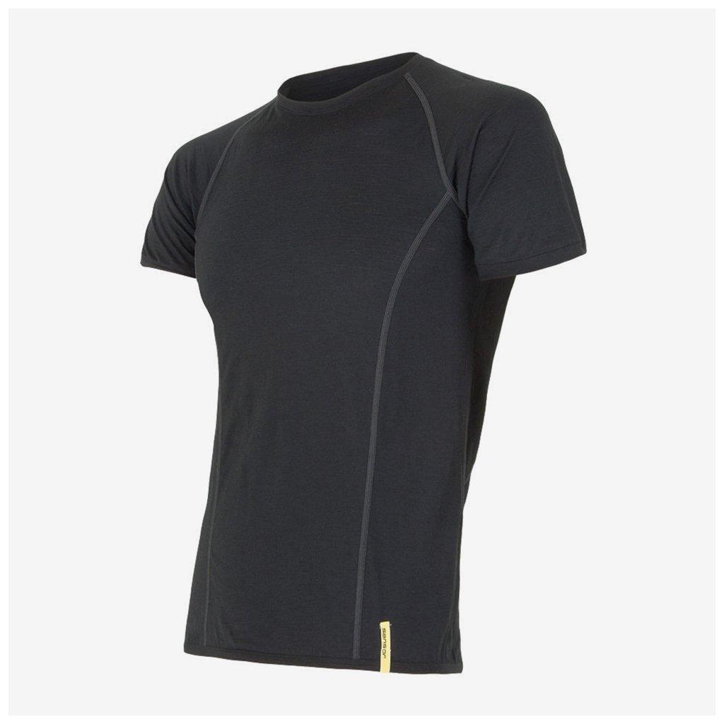 Pánské tričko Merino Active 1/2- černé