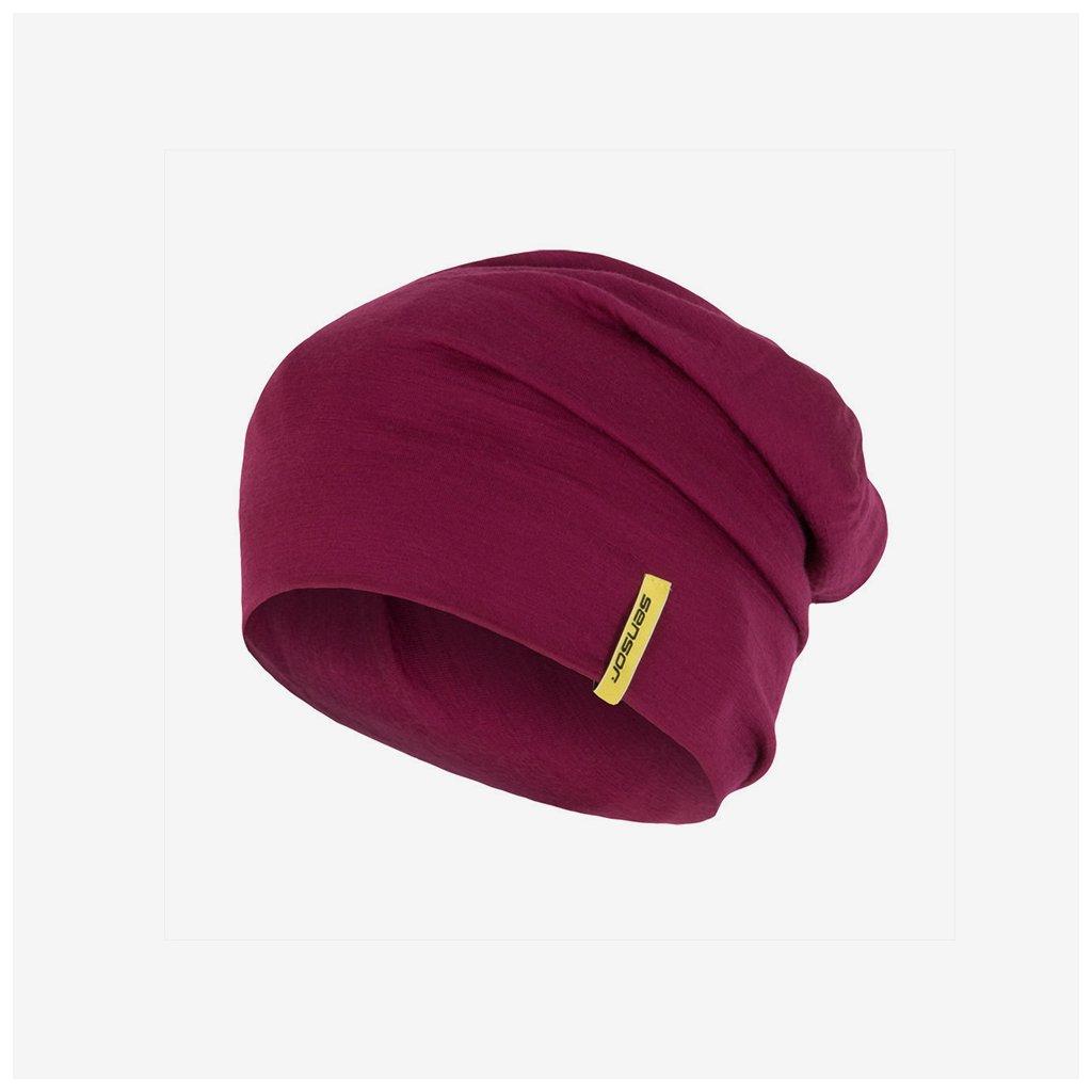 Dámská čepice Merino Wool - fialová