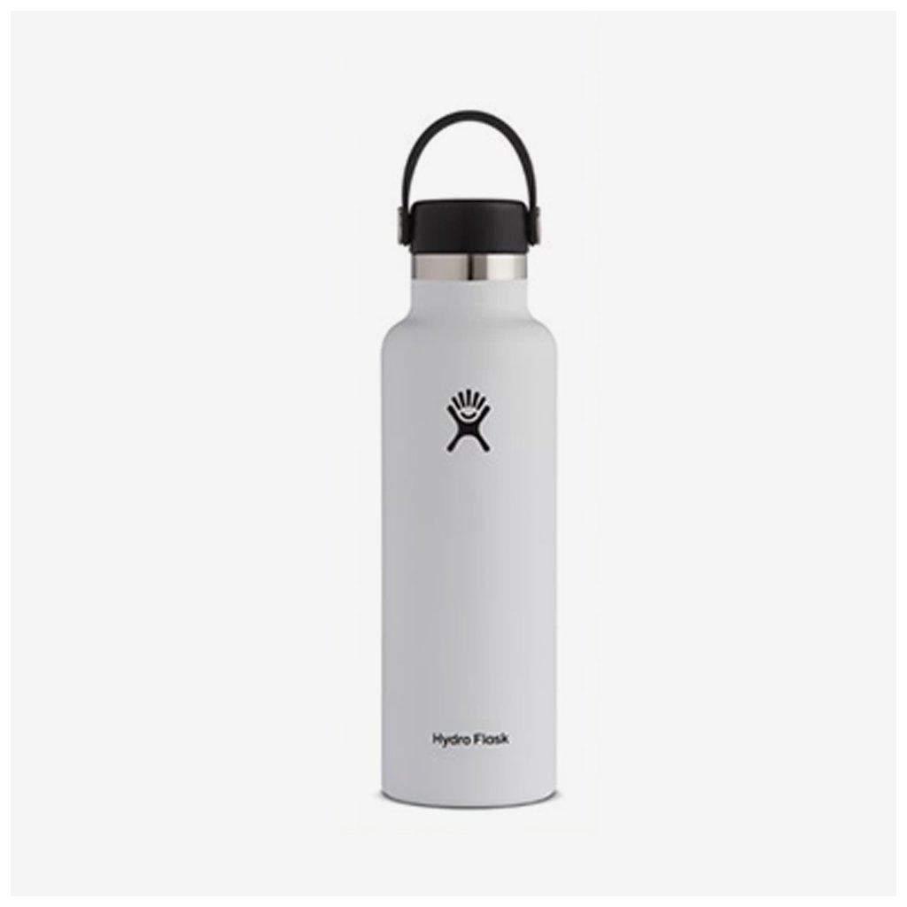 Láhev Hydro Flask 21 OZ STANDARD mouth FLEX CAP - bílá