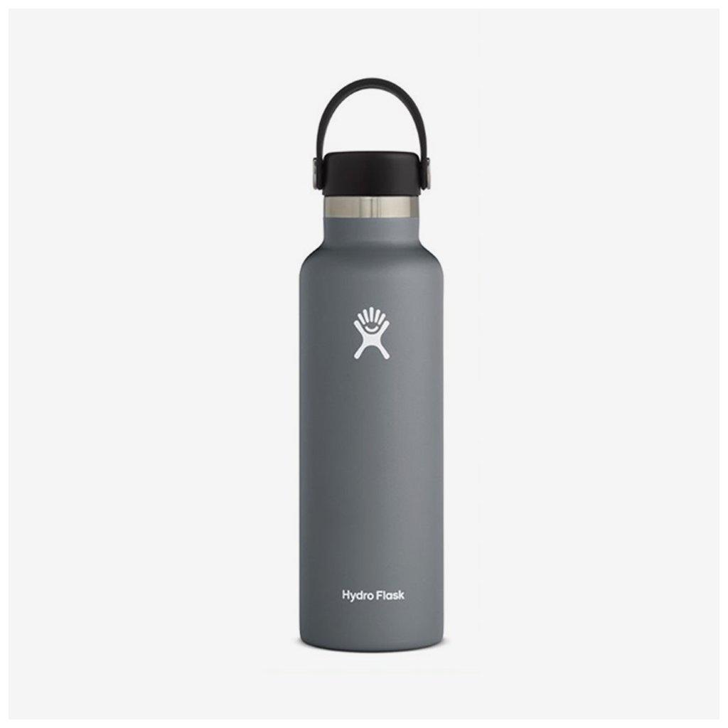 Láhev Hydro Flask 21 OZ STANDARD mouth FLEX CAP - šedá
